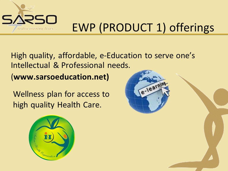 EWP (PRODUCT 1) offerings