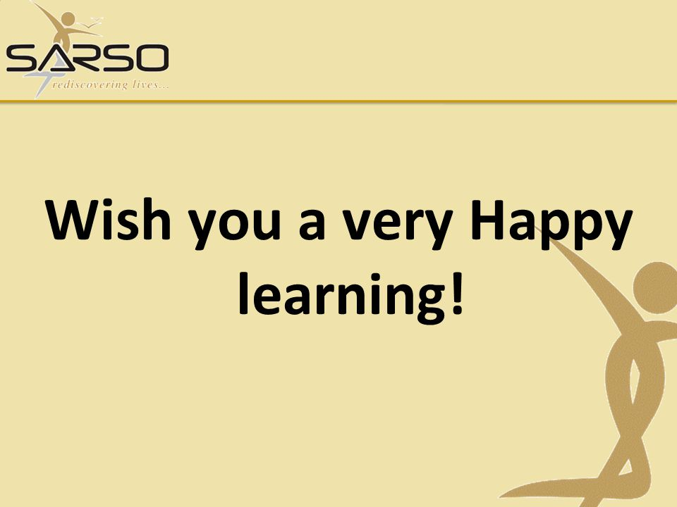 Wish you a very Happy learning!