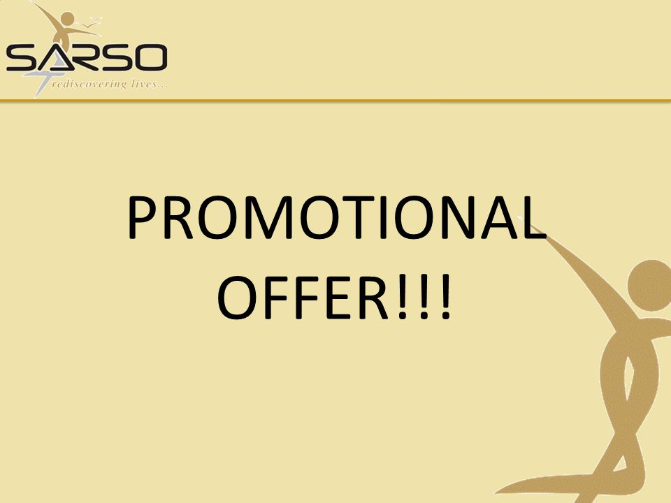 PROMOTIONAL OFFER!!!