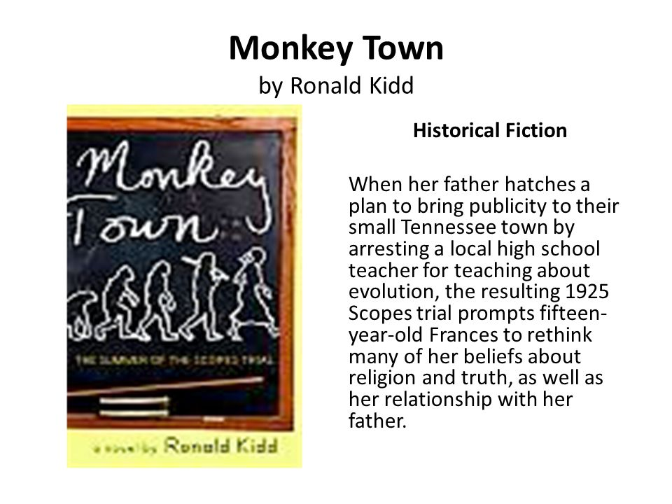 Monkey Town by Ronald Kidd