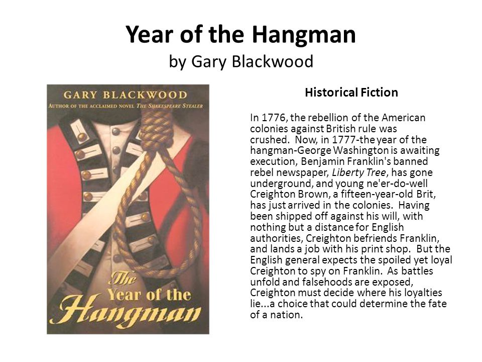 Year of the Hangman by Gary Blackwood