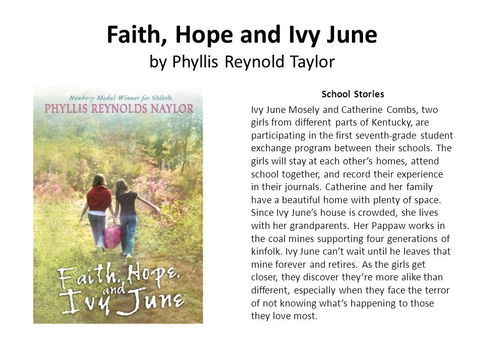 Faith, Hope and Ivy June by Phyllis Reynold Taylor