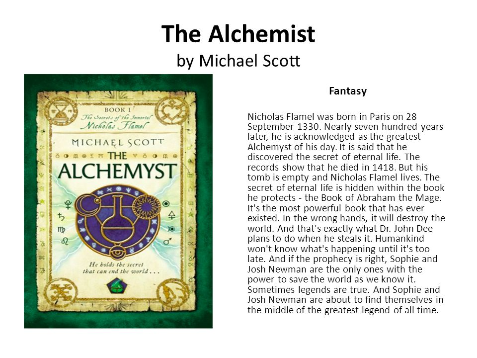 The Alchemist by Michael Scott