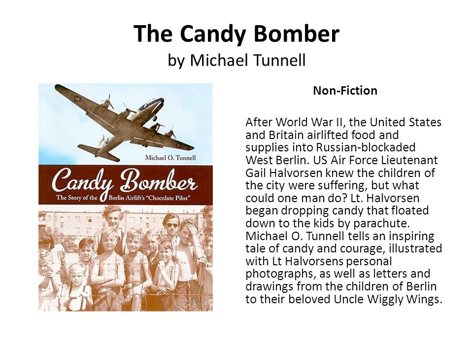 The Candy Bomber by Michael Tunnell