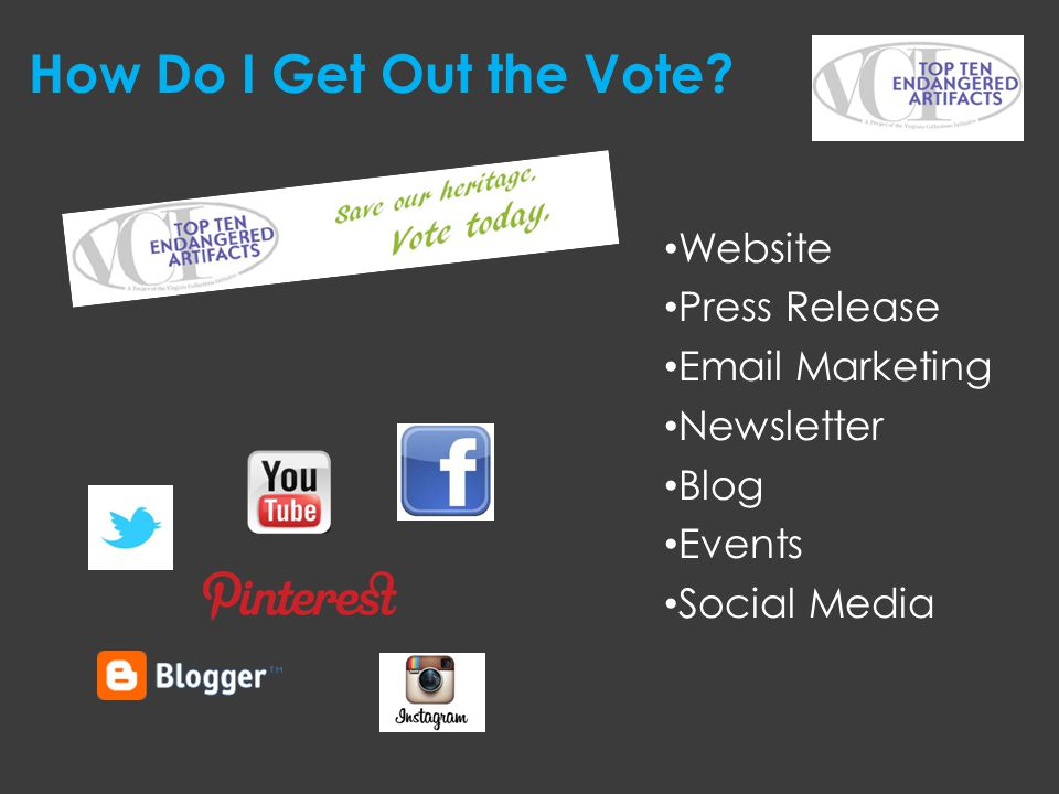 How Do I Get Out the Vote Website Press Release Email Marketing