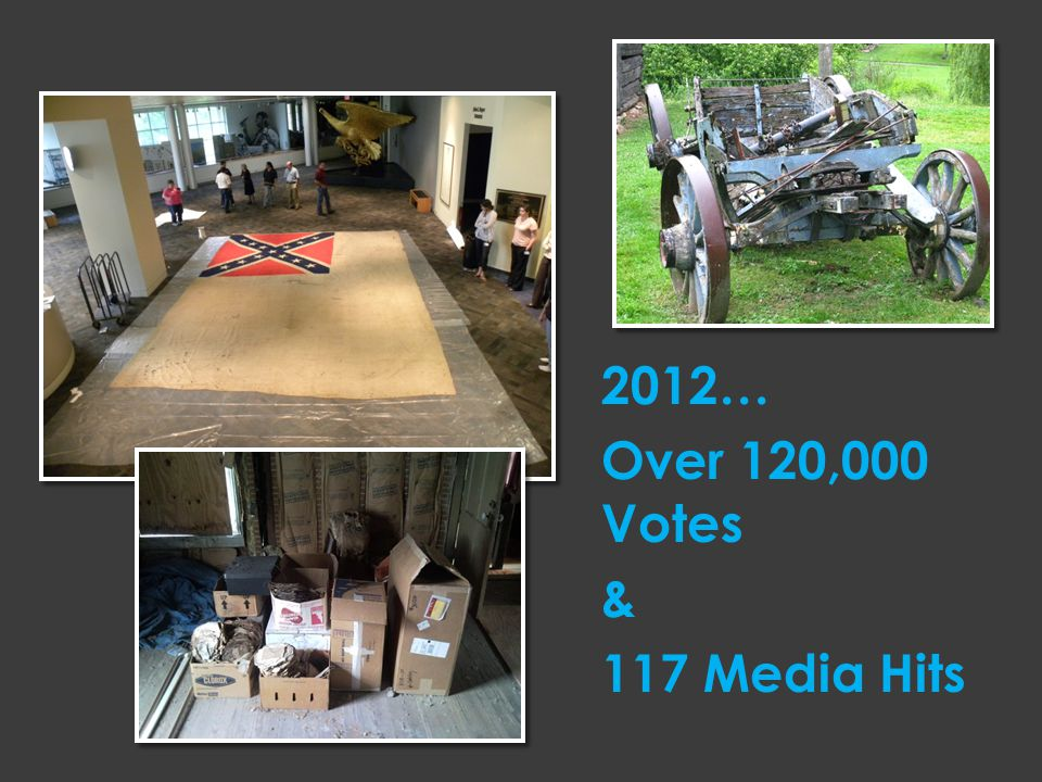 2012… Over 120,000 Votes & 117 Media Hits