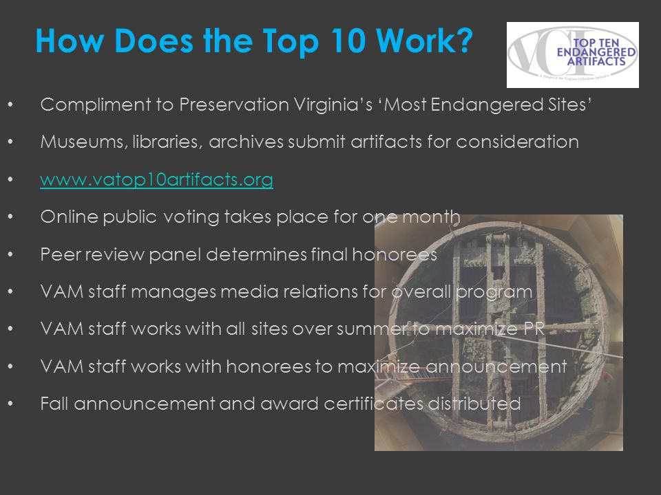 How Does the Top 10 Work Compliment to Preservation Virginia's 'Most Endangered Sites'