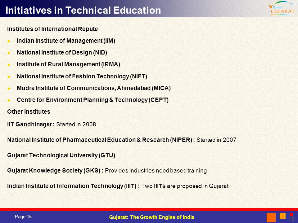Initiatives in Technical Education