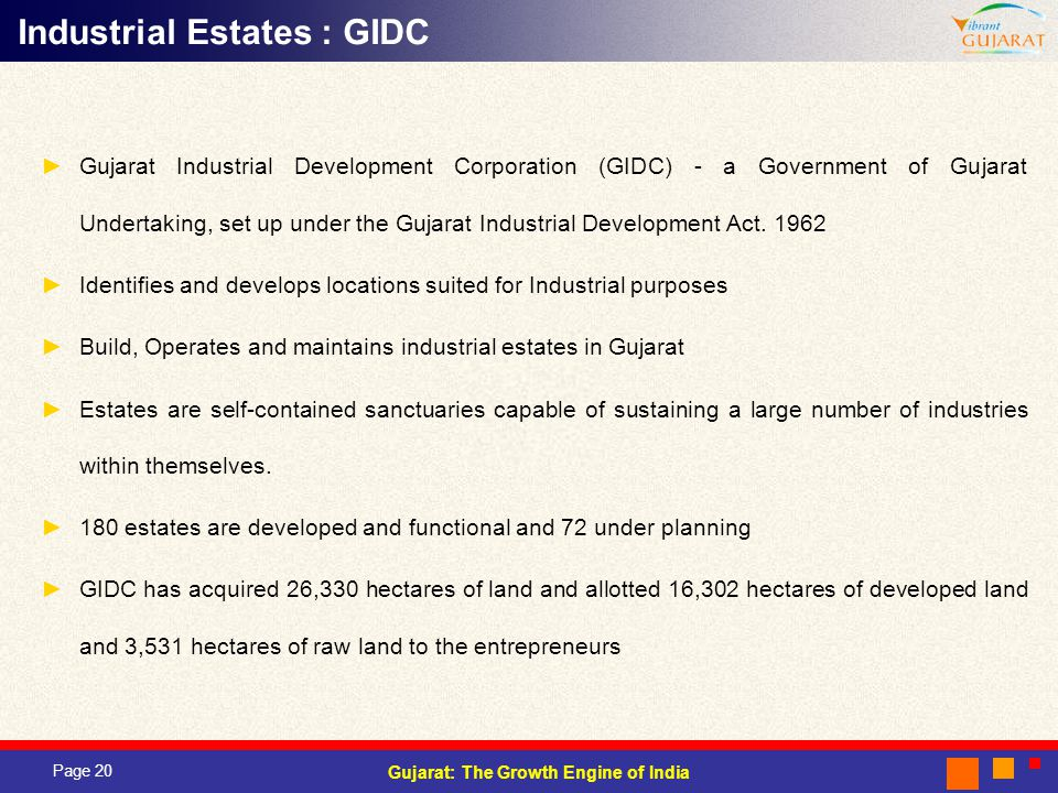 Industrial Estates : GIDC