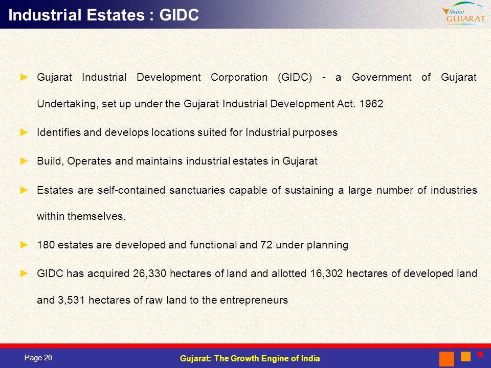 Industrial Estates : GIDC