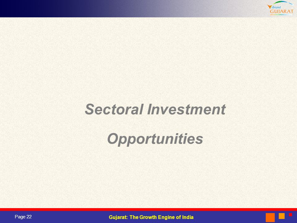 Sectoral Investment Opportunities