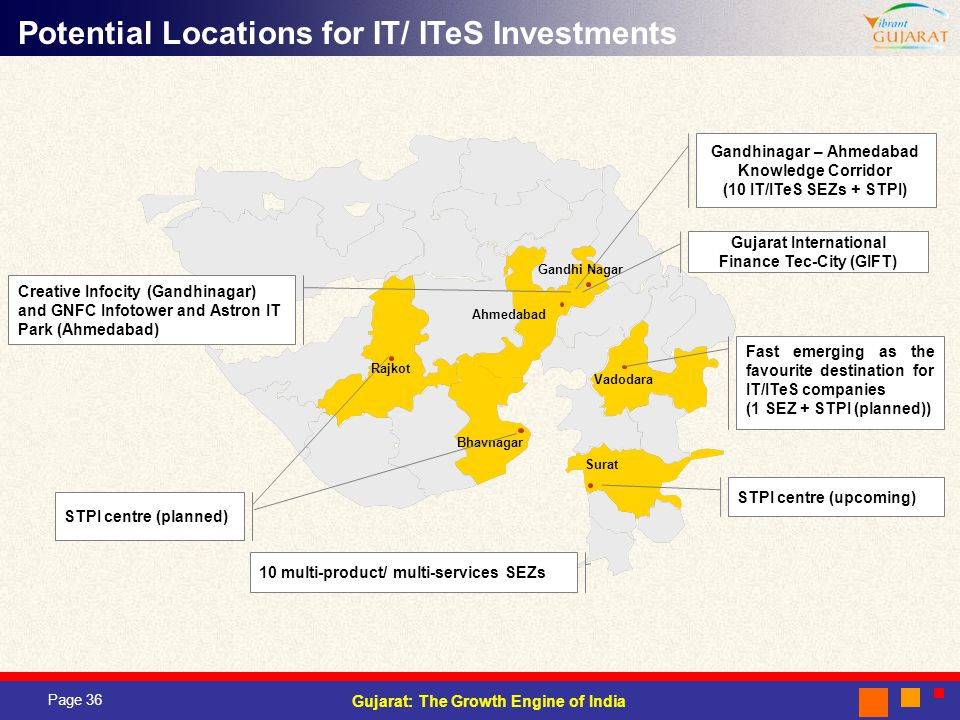 Potential Locations for IT/ ITeS Investments