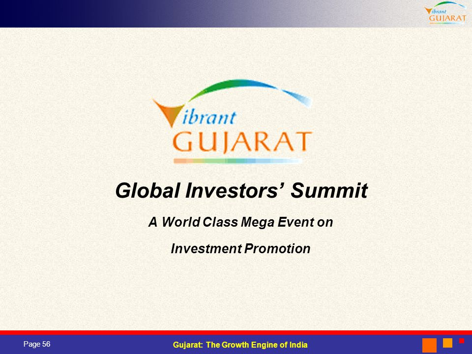 Global Investors' Summit A World Class Mega Event on