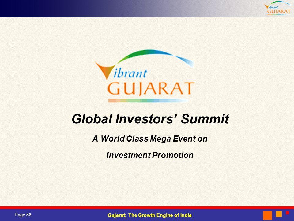 Global Investors' Summit A World Class Mega Event on