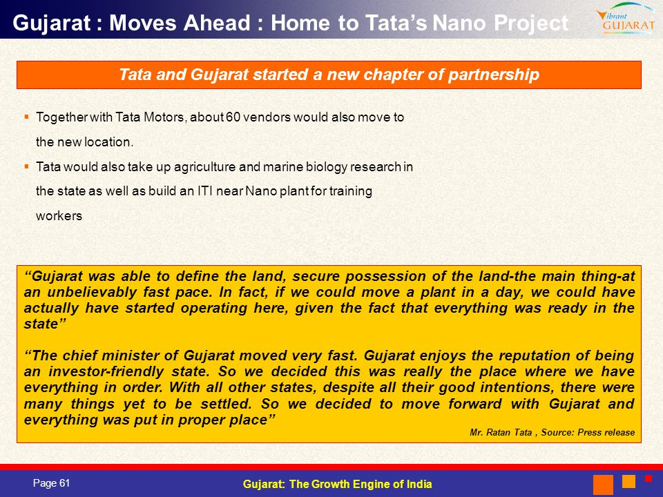 Tata and Gujarat started a new chapter of partnership