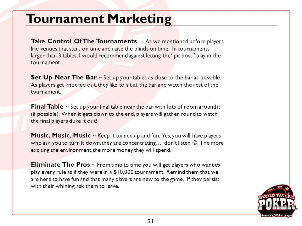 Tournament Marketing
