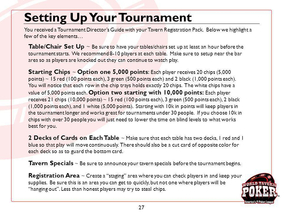 Setting Up Your Tournament