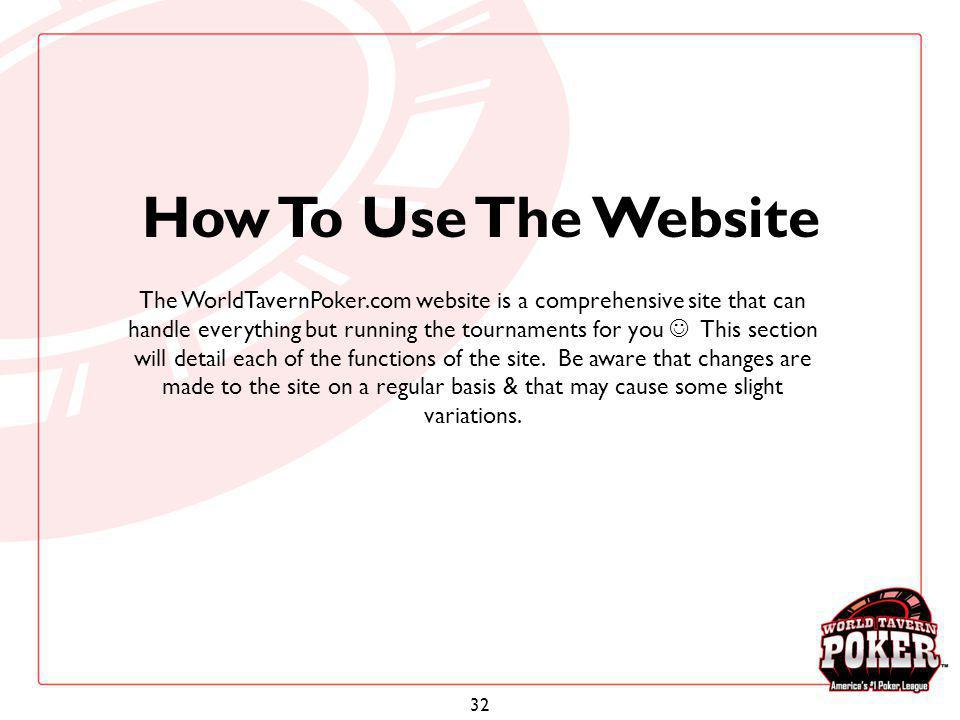 How To Use The Website
