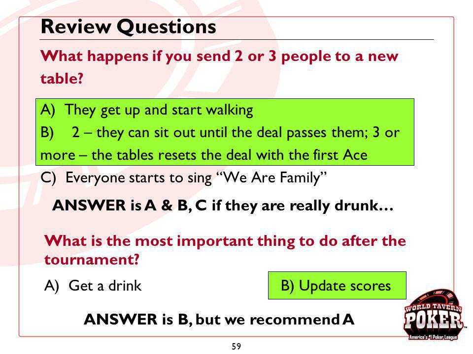 Review Questions What happens if you send 2 or 3 people to a new