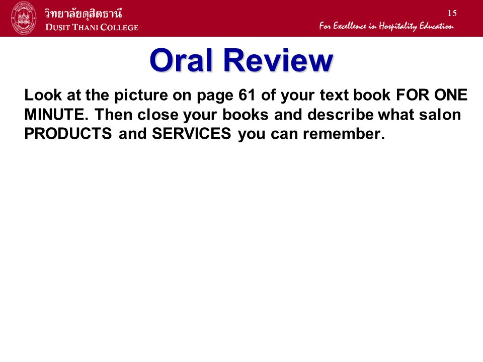 Oral Review
