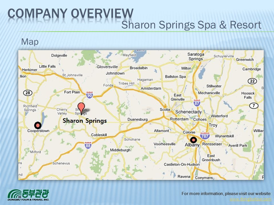 3/31/2017 Company Overview Sharon Springs Spa & Resort Map