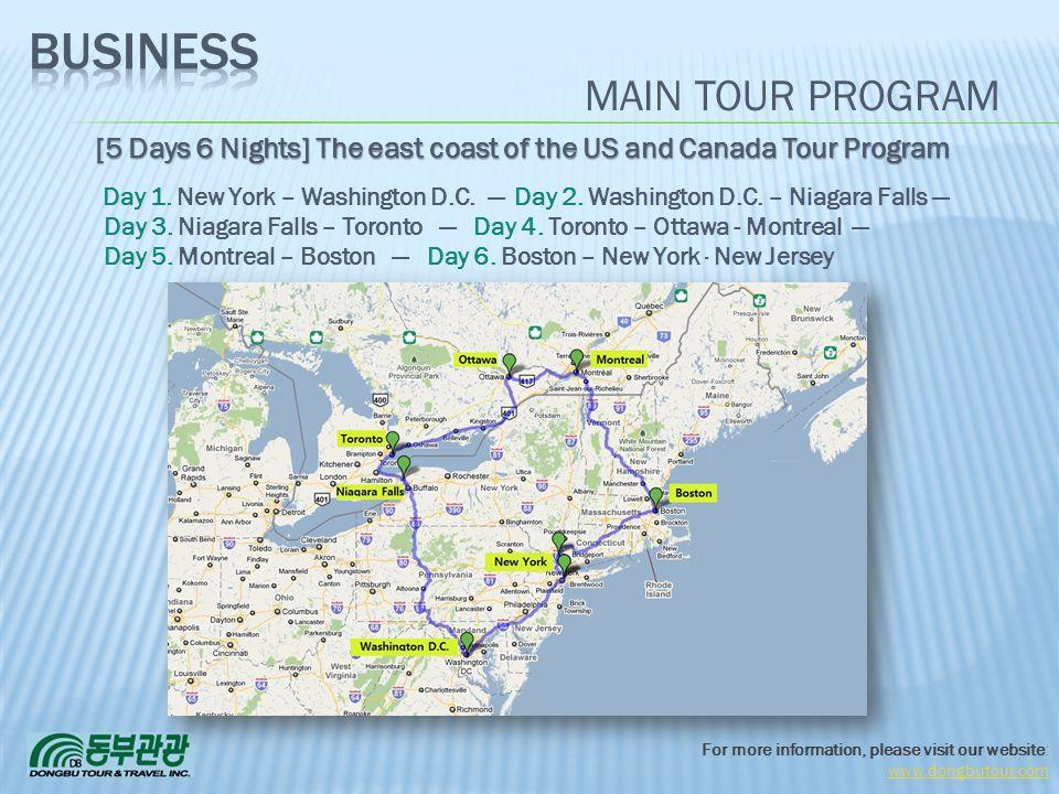 Business MAIN TOUR PROGRAM