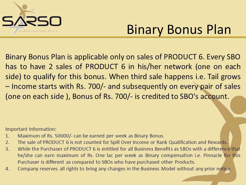 Binary Bonus Plan