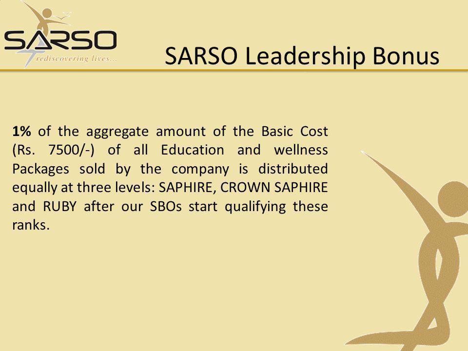 SARSO Leadership Bonus