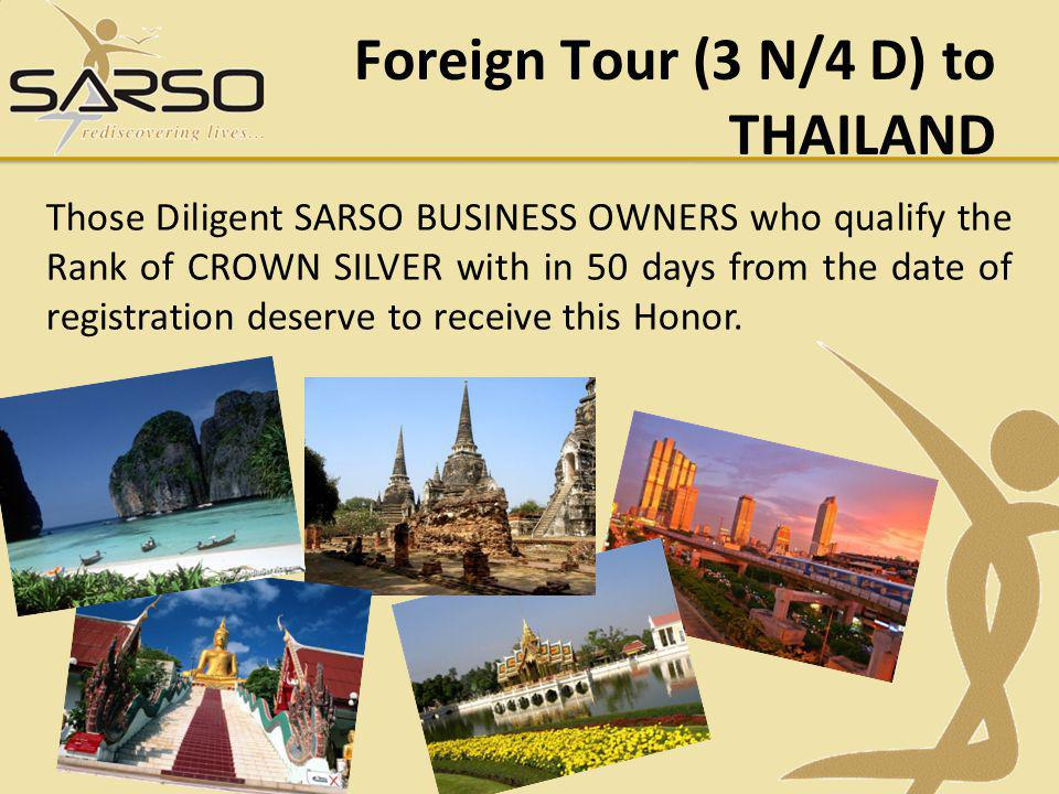 Foreign Tour (3 N/4 D) to THAILAND