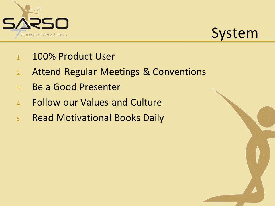 System 100% Product User Attend Regular Meetings & Conventions