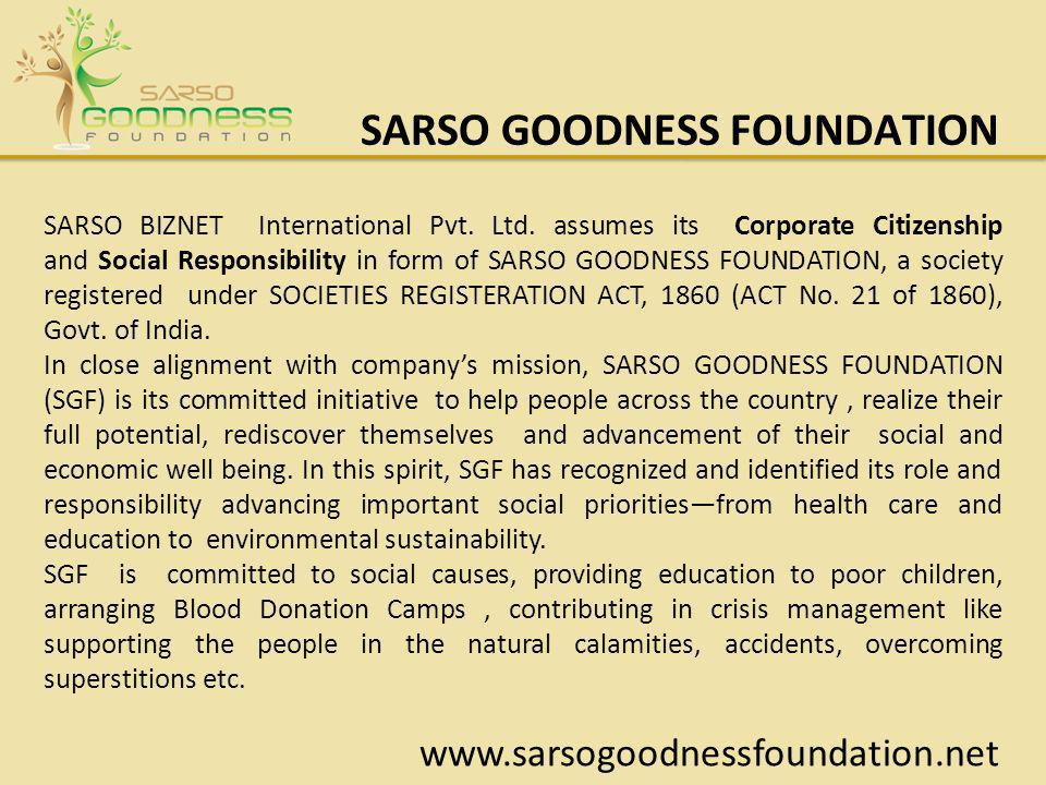 SARSO GOODNESS FOUNDATION