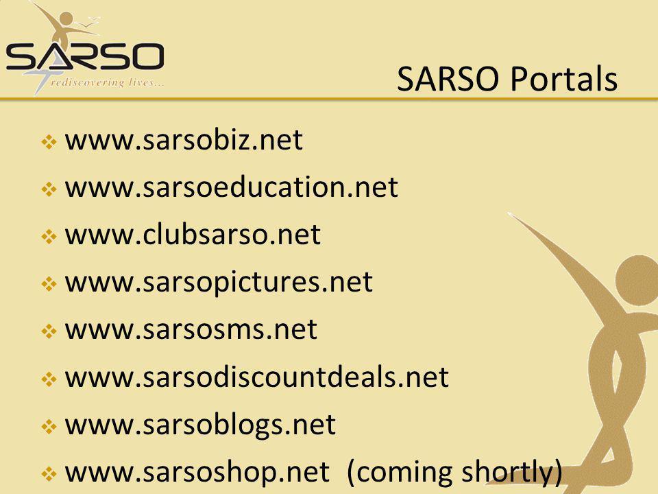 SARSO Portals www.sarsobiz.net www.sarsoeducation.net