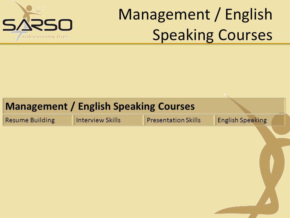 Management / English Speaking Courses