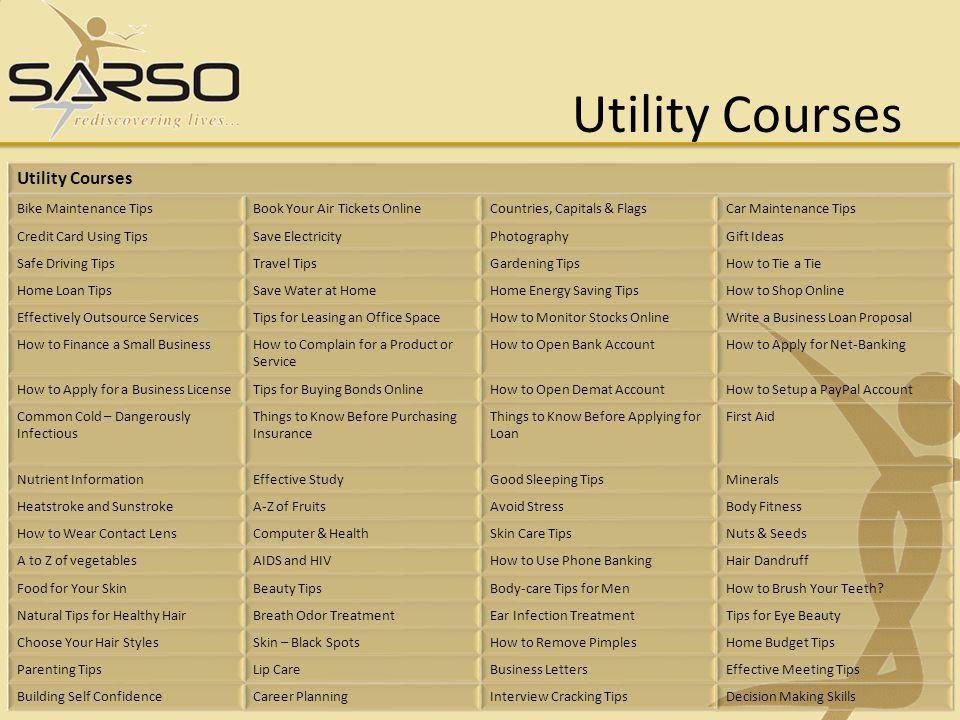 Utility Courses Utility Courses Bike Maintenance Tips