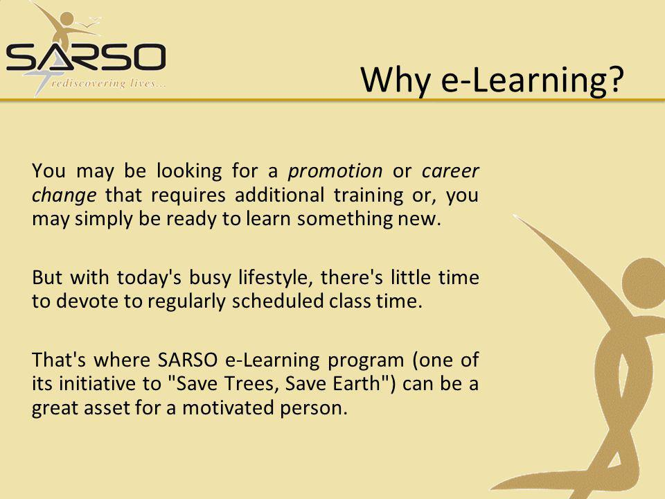 Why e-Learning