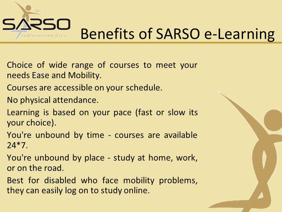 Benefits of SARSO e-Learning