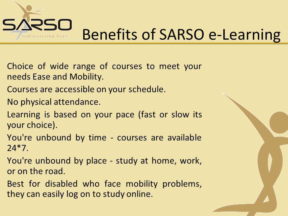 Benefits of SARSO e-Learning