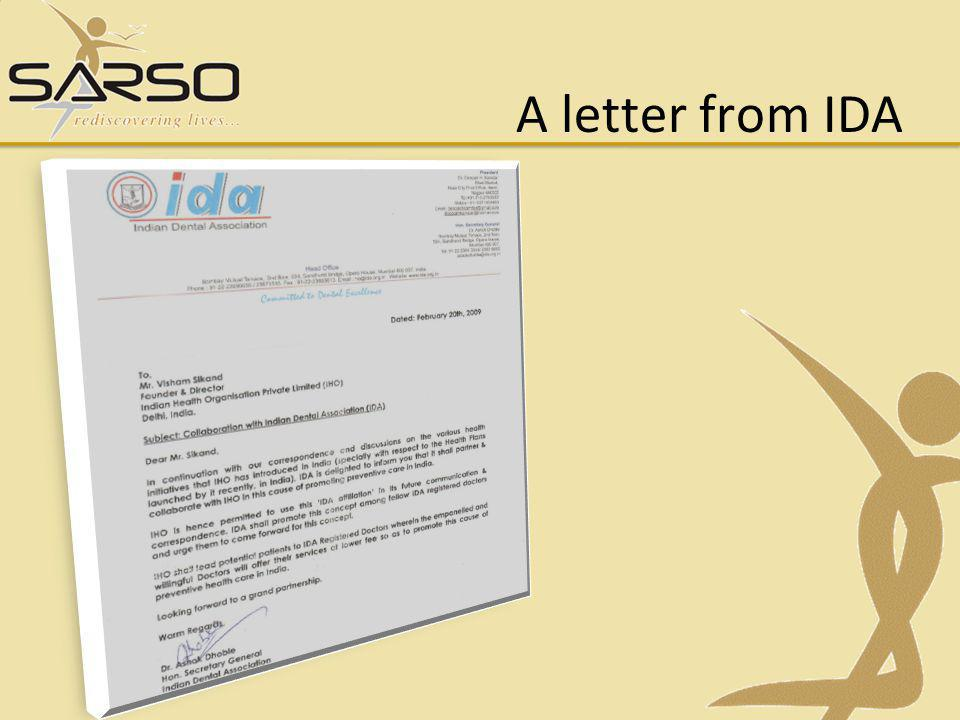 A letter from IDA