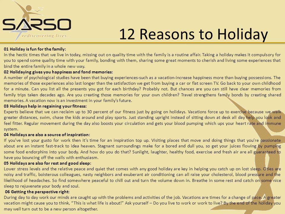 12 Reasons to Holiday 01 Holiday is fun for the family: