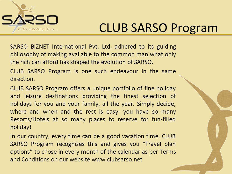 CLUB SARSO Program