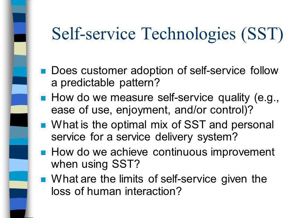 Self-service Technologies (SST)
