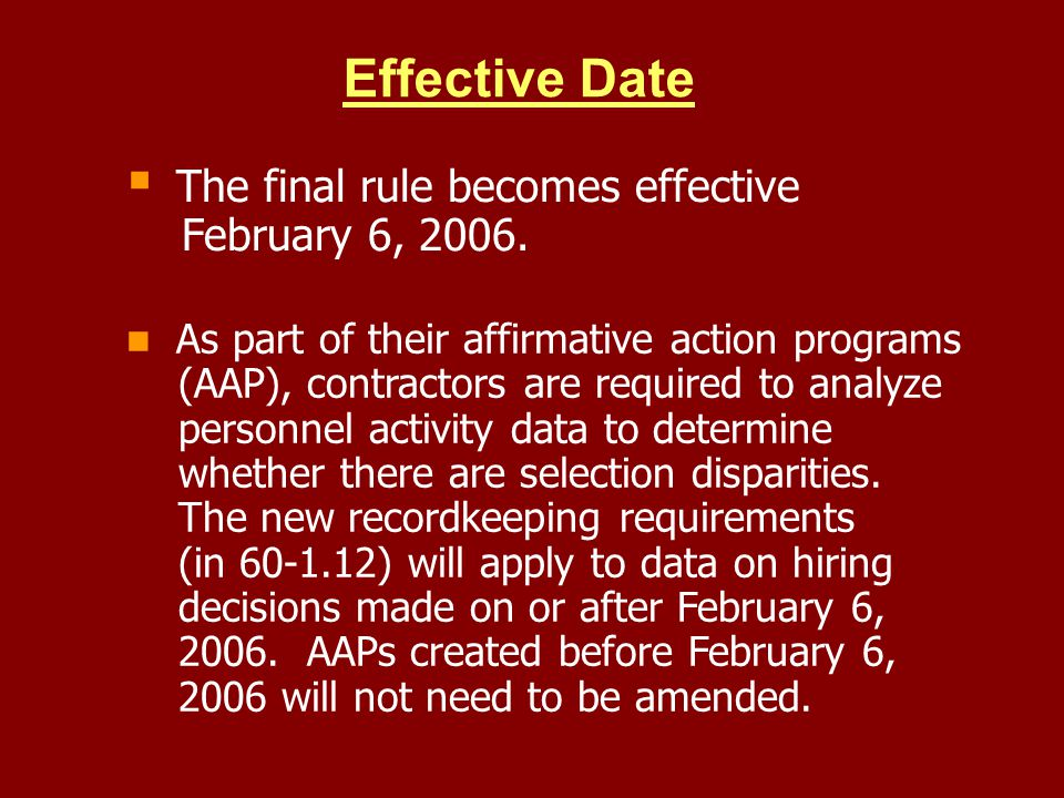 Effective Date February 6, 2006.