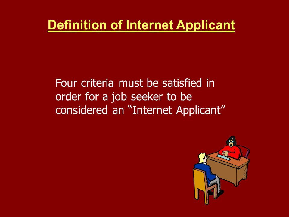 Definition of Internet Applicant