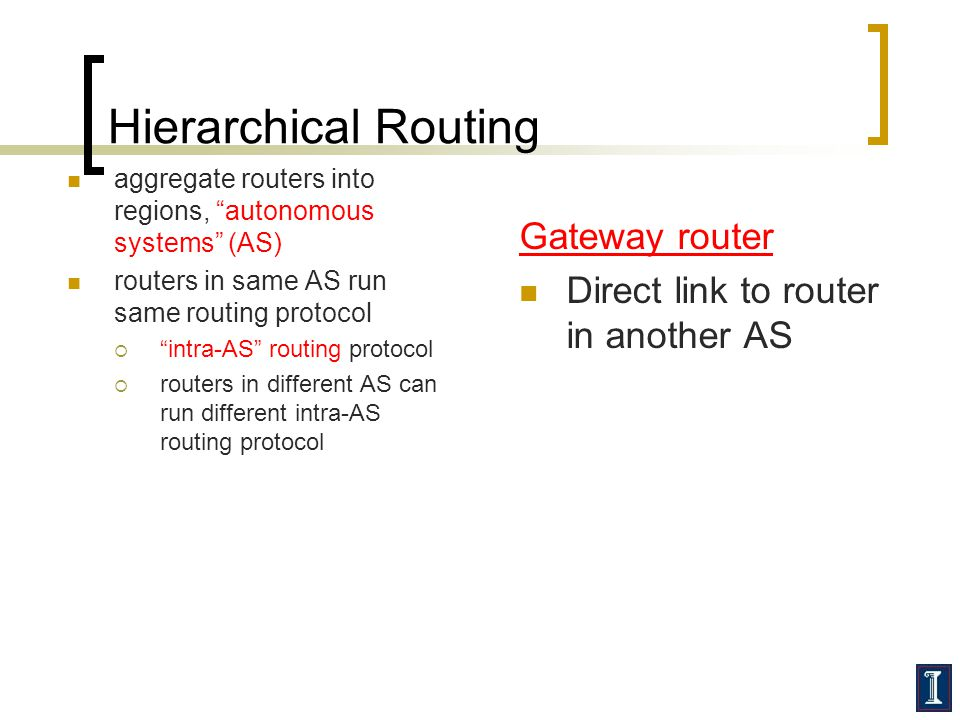 Hierarchical Routing Gateway router