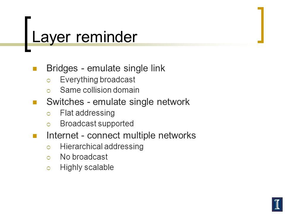 Layer reminder Bridges - emulate single link
