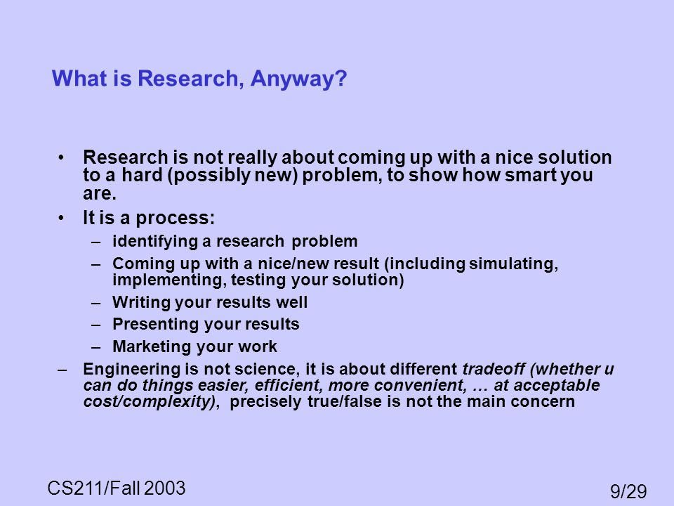 What is Research, Anyway