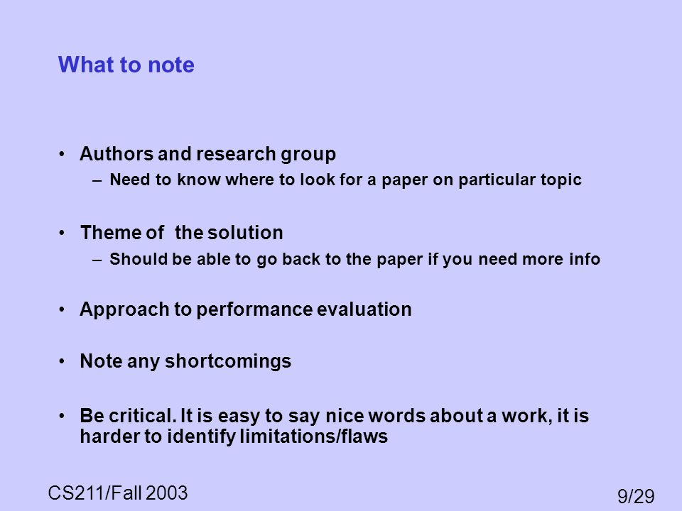 What to note Authors and research group Theme of the solution