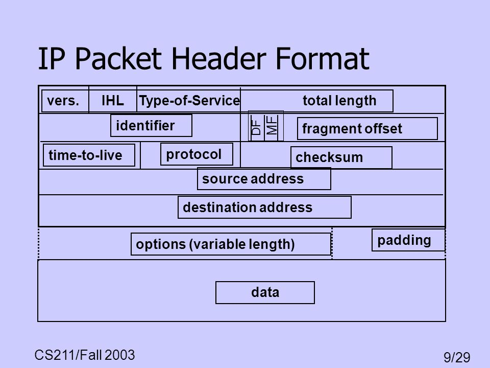 IP Packet Header Format