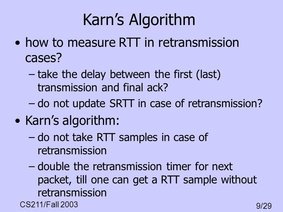 Karn's Algorithm how to measure RTT in retransmission cases