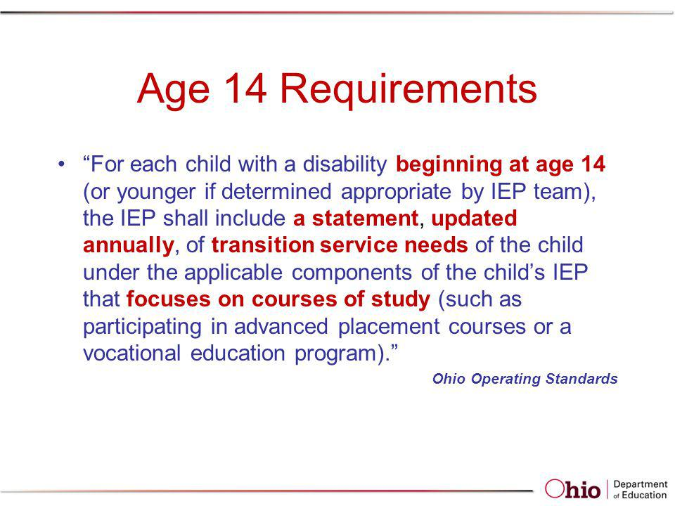 Age 14 Requirements